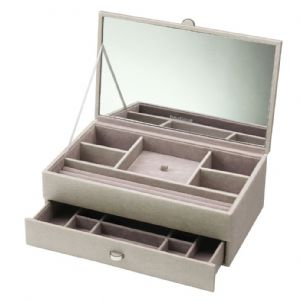 Dulwich Designs 70949 Boutique Medium Mink Contempory Jewellery Box